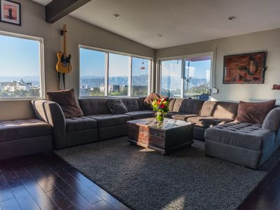 Photo for SPACIOUS PRIVATE HOUSE - HOLLYWOOD HILLS WITH DECK & VIEWS. CLOSE TO EVERYTHING!