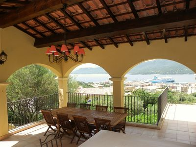 Photo for Villa - Panoramic view over the sea at 180 °