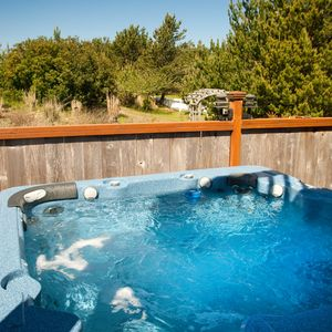 This 6 person private hot tub on the first floor deck,is perfect for the whole family