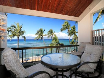Photo for Beach Front Living - Beautiful 2 Bedroom 2 Bath - Hale Mahina #B405