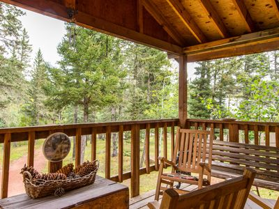 Photo for NEW LISTING! Secluded, rustic home w/ heated deck - lake & golf nearby