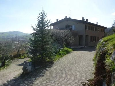 Photo for Apartment in villa with garden and terrace in the green hinterland of Rimini.