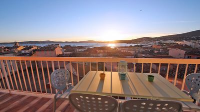 Photo for Apartment T3 - 4/5 people - Sea view - Air conditioning - WiFi - Town center - Sainte-Maxime