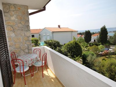 Photo for One bedroom apartment with terrace and sea view Krk