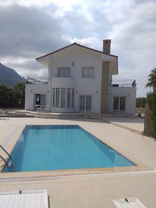 Photo for 3 bedroom, detached villa with private pool & mountain and sea views