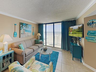 Photo for New Listing! Updated Oceanfront Condo w/ Balcony & Pools - Walk to Waves