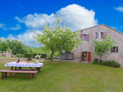 Photo for Rustic country house in the hills, large garden and private pool, nice view