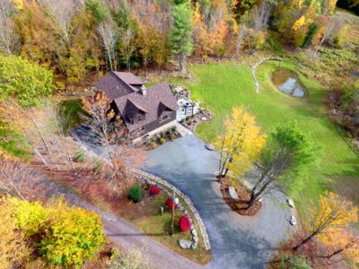 Photo for Elegant New Ski Lodge with Slope Views, 5 Minutes from Windham Mountain