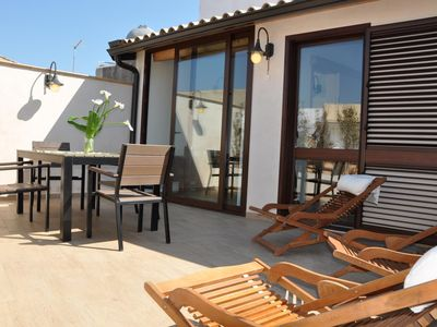 Photo for Wellness House Galilei F apartment in Siracusa with WiFi, air conditioning & private terrace.