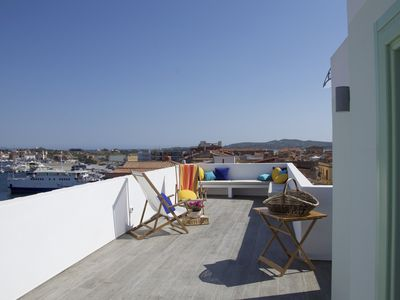 Photo for In the Blue, attic and terrace with a breathtaking view of the sea and the sky