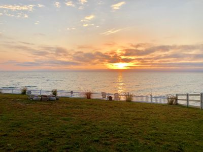 Photo for Luxury Lakefront Cottage - 180 View of Beautiful Lake Huron - Private access.