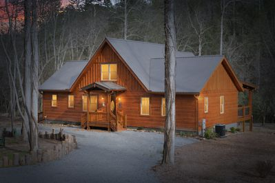 our cabin is 50 ft. from the Toccoa River