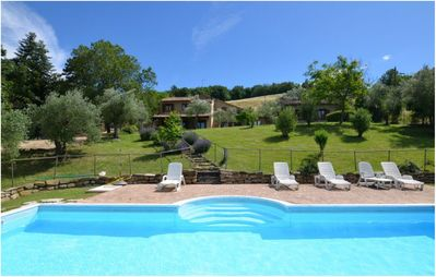 Photo for Charming Villa in Marche, private pool and fantastic landscape