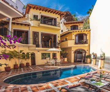 Photo for Beautiful Spanish Private Villa Overlooking Mismaloya Beach and Los Arcos