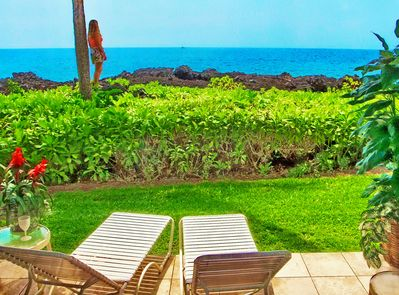Calypso's Oceanfront Lanai and View