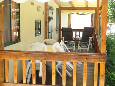 Photo for Mobile home chalet Mobile home for rent in Viareggio Italy Tuscany by the sea