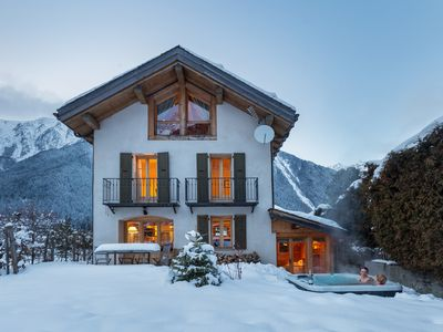 Photo for Beautiful luxury chalet, with hot tub, in central Chamonix.  Sleeps up to 10.
