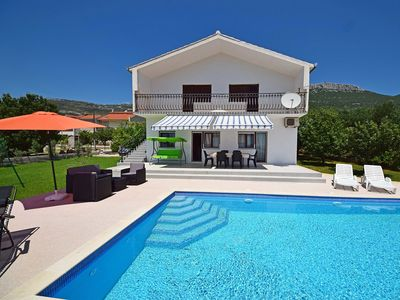 Photo for This 2-bedroom villa for up to 6 guests is located in Kastela and has a private swimming pool, air-c