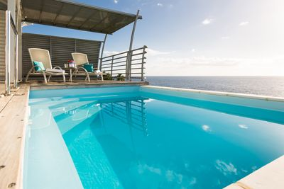 Chaque villa à sa propre piscine privée au sel.  Blue Haven Villas Guadeloupe