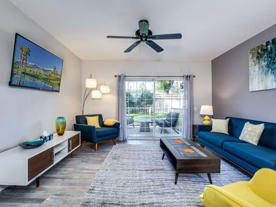Photo for Mesquite Country Club #A2:  Enjoy that New Home Smell!  Floor to Ceiling Renovation Complete!  Be The First to Enjoy This Central Palm Springs Vacation Retreat in Coveted Phase III.  Walkable to Ramon and Sunrise Business Community and Restaurants.