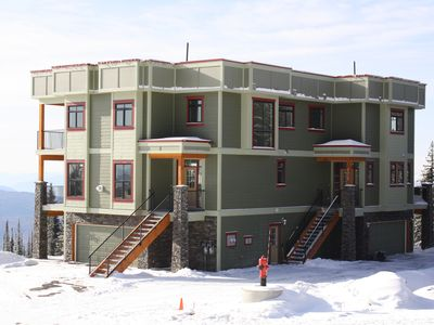 The front of this duplex is 9950, it looks up at the ski run 'Split Decision'.