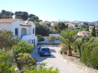 Photo for Spanish style detached villa, private pool, 5min walk to beach, Free WiFi, A/C