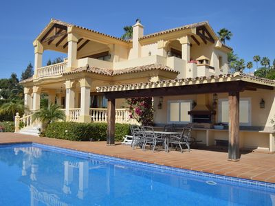Photo for FAMILY HOLIDAY VILLA 34121874 WITH PRIVATE POOL SEA VIEW LA QUINTA MARBELLA