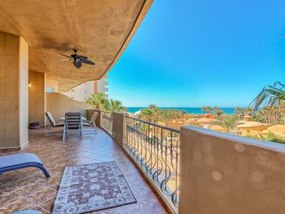 Photo for Bella Sirena Luxury Condo right on the beach with large balcony and beach views