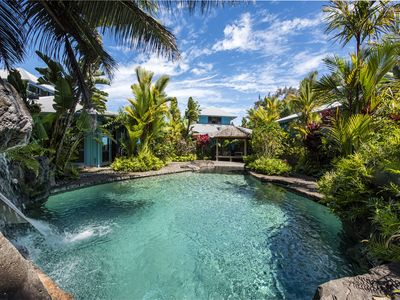 Photo for Incredible Oceanfront Home - Waipio Valley - Waterfall pool