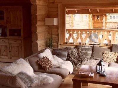 Photo for Authentic mountain chalet, overlooking the mountains, 13 people, high standing