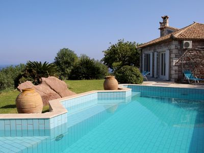 Photo for Villa with pool in exposed position, sea view, wifi | Messenia, Peloponnese