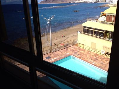 Photo for With pool in front of the beach of Las Canteras Gran Canaria