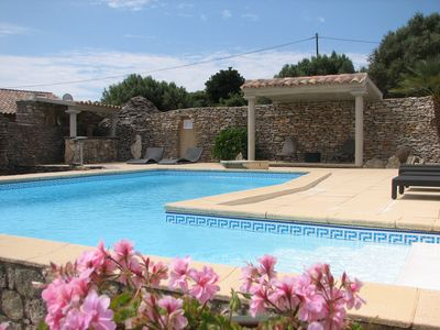 Photo for Charming villa with private pool 2 kms from Bonifacio