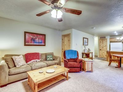 Photo for Family-friendly home with private hot tub - close to all of the action