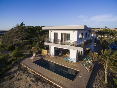 Photo for Superb luxury villa for a quiet holiday with feet in the water nearby Oceanides Beach