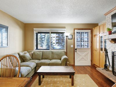 Photo for Dog-friendly riverfront condo w/shared hot tub & grill-Walk to shops/restaurants