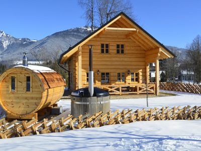 Photo for Naturchalet am Wolfgangsee - pure relaxation - Naturchalet am Wolfgangsee