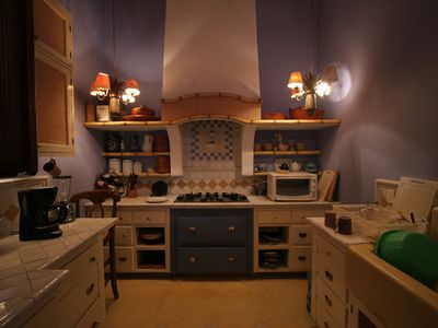 Fully equipped kitchen where our wonderful chef will prepare delicious meals