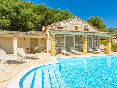 Photo for Villa Kefalaki: Large Private Pool, Walk to Beach, Sea Views, A/C, WiFi, Car Not Required