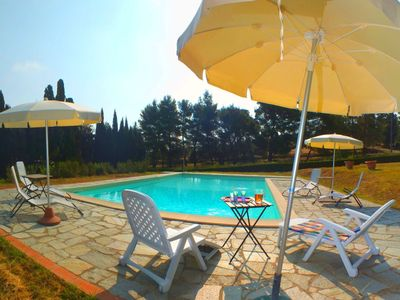 Photo for Organic farmhouse complex with swimming pool and splendid views