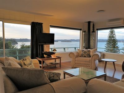 Photo for A Noble View. Comfortable 3 bed-roomed home with sweeping harbour view.