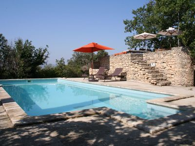 Photo for Character House in Gordes with heated pool and views over the Luberon
