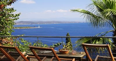 Photo for Private villa with panoramic sea views