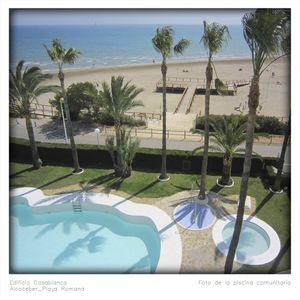 Photo for Apartment on beach-front with three double bedrooms.