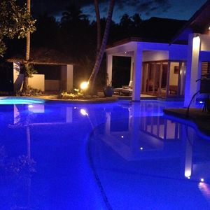 evening at poolside