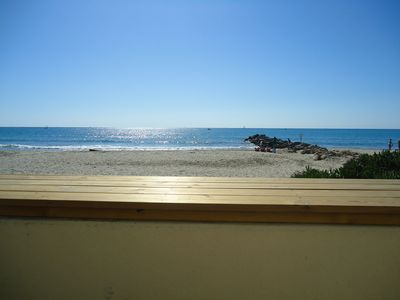 Photo for super modern apartment directly on the beach PALAVAS, 2 bedrooms, wifi
