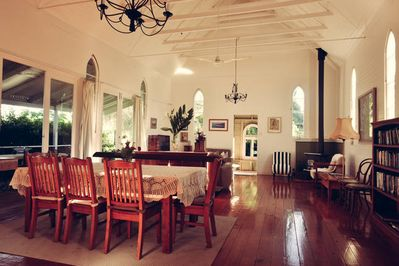 Interior of the original Church  converted into the living/ dining area.