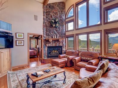 Photo for Mountain Home with Private Hot Tub, Big Screen TV, Large Decks with Great Views!