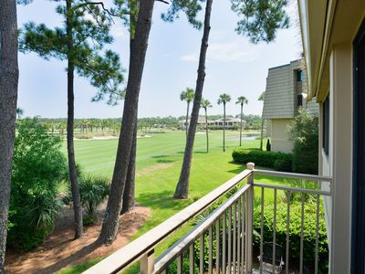 Photo for New Listing! Plantation Club Villa on Golf Course w/ Pool in Sea Pines