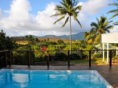 Private heated salt water pool, crater/mountain/golf